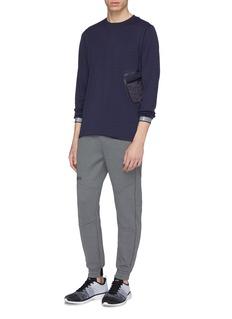 DYNE 'Latimer' contrast pocket mesh long sleeve T-shirt