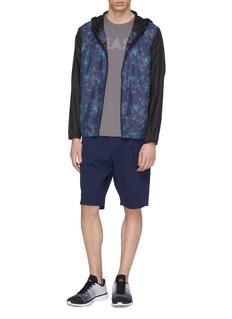 DYNE 'Renzo' water-resistant panelled zip performance hoodie