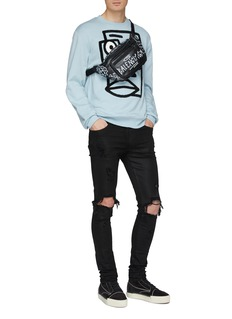 Haculla 'Confused Face' chenille patch sweatshirt