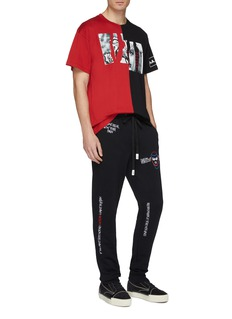 Haculla Mix slogan graphic embroidered jogging pants