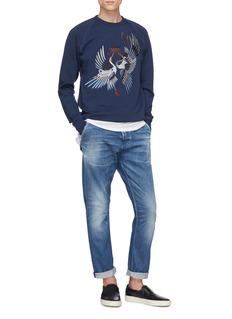 DENHAM Crane embroidered sweatshirt