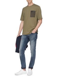 DENHAM 'Kursk' contrast chest pocket T-shirt