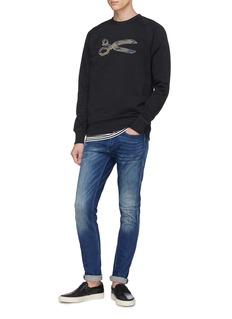 DENHAM Camouflage logo embroidered sweatshirt