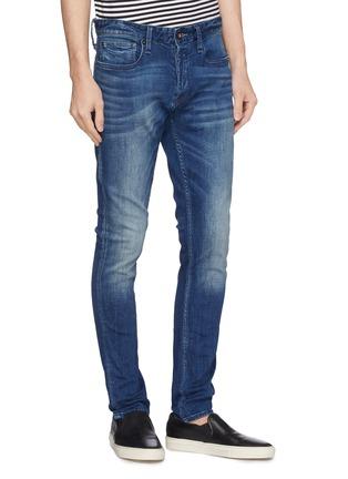Front View - Click To Enlarge - DENHAM - 'Bolt' slub skinny jeans