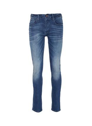 Main View - Click To Enlarge - DENHAM - 'Bolt' slub skinny jeans