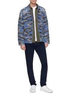 DENHAM 'Bruler' camouflage embroidered denim jacket