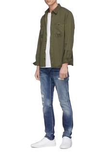 DENHAM 'Iron' patch pocket twill shirt