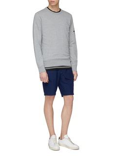 DENHAM 'Flight' mix pocket cotton-linen shorts