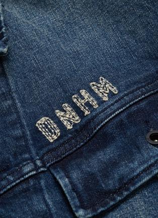 - DENHAM - 'Military' logo slogan embroidered denim jacket