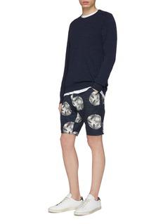 DENHAM 'Ben' plant circle print stripe shorts