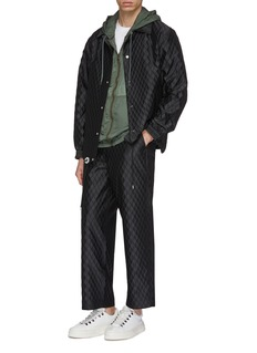 meanswhile 'X-Hack' quilted wide leg pants