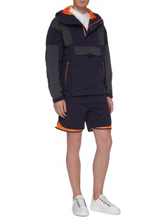 meanswhile 'Equipment' mesh cuff board shorts