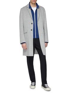 JOSEPH Notched lapel wool-cashmere melton coat