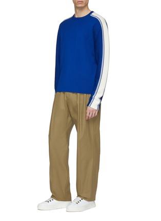 Figure View - Click To Enlarge - JOSEPH - Stripe sleeve wool sweater