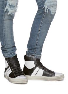 Amiri 'Sunset Vintage' colourblock leather high top sneakers
