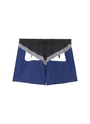 Main View - Click To Enlarge - Fendi Sport - 'Bag Bugs' panel swim shorts
