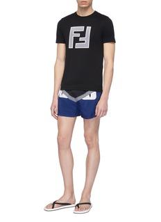 Fendi Sport 'Bag Bugs' panel swim shorts