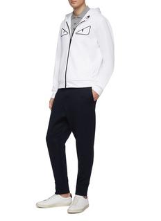 Fendi Sport 'Bag Bugs' mesh appliqué zip hoodie