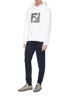 Fendi Sport Mesh logo appliqué hoodie