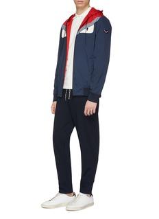 Fendi Sport 'Bag Bugs' panel reversible hooded jacket