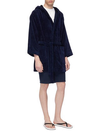 Figure View - Click To Enlarge - Fendi Sport - 'Bag Bugs' panel bathrobe