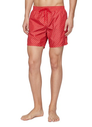 Front View - Click To Enlarge - Fendi Sport - 'Bag Bugs' print swim shorts