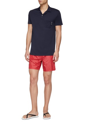 Figure View - Click To Enlarge - Fendi Sport - 'Bag Bugs' print swim shorts
