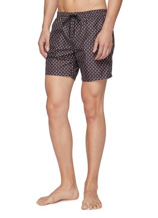 Front View - Click To Enlarge - Fendi Sport - 'Bag Bugs' print swim shorts