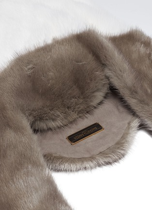 Detail View - Click To Enlarge - Simonetta Ravizza - 'Furrissima' colourblock mink fur tote