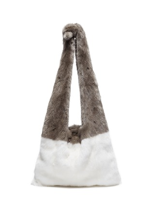 Main View - Click To Enlarge - Simonetta Ravizza - 'Furrissima' colourblock mink fur tote