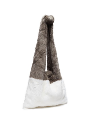 Figure View - Click To Enlarge - Simonetta Ravizza - 'Furrissima' colourblock mink fur tote