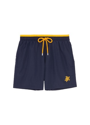 Main View - Click To Enlarge - Vilebrequin - 'Mokami' packable turtle logo embroidered swim shorts