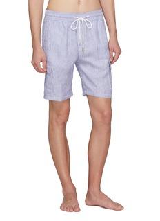 Vilebrequin Stripe linen cargo shorts