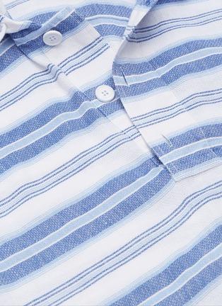 - ORLEBAR BROWN - 'Penley' stripe linen-cotton hoodie
