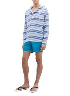 Orlebar Brown 'Penley' stripe linen-cotton hoodie