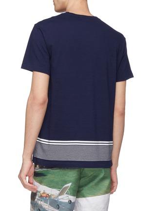 Back View - Click To Enlarge - ORLEBAR BROWN - 'Sammy' stripe hem T-shirt