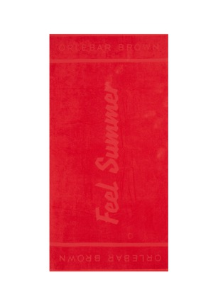 Detail View - Click To Enlarge - ORLEBAR BROWN - 'Feel Summer' slogan cotton beach towel