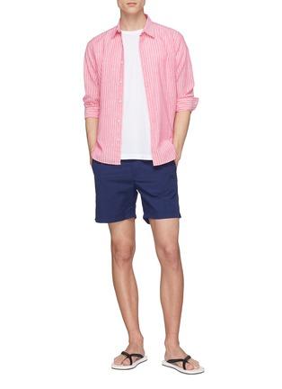 Figure View - Click To Enlarge - Orlebar Brown - 'Morton' stripe cotton-linen shirt