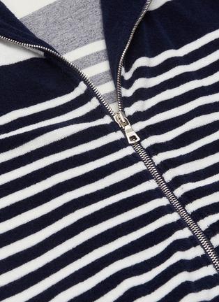 - ORLEBAR BROWN - 'Mathers' stripe terry zip hoodie