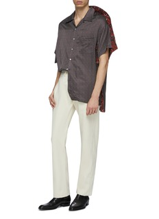 Y/Project Contrast layered shoulder graphic print bowling shirt