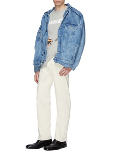 Y/Project Layered button front denim jacket