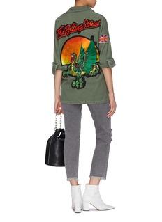 MadeWorn 'The Rolling Stones' mix graphic appliqué jacket