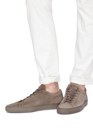 Figure View - Click To Enlarge - Common Projects - 'Original Achilles' suede sneakers