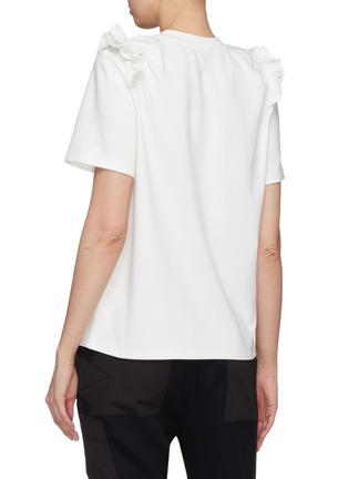 Back View - Click To Enlarge - Jinnnn - Ruffle shoulder T-shirt