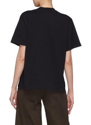Back View - Click To Enlarge - Jinnnn - Asymmetric gathered hoop T-shirt