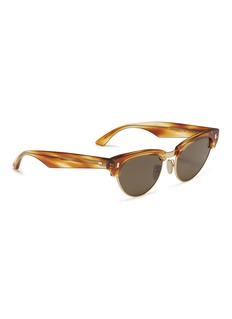 Céline Metal rim tortoiseshell acetate cat eye sunglasses