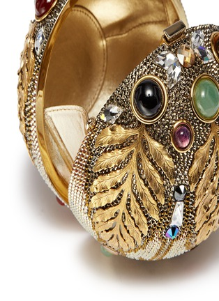 Detail View - Click To Enlarge - JUDITH LEIBER - 'Pax Sphere' crystal tassel clutch