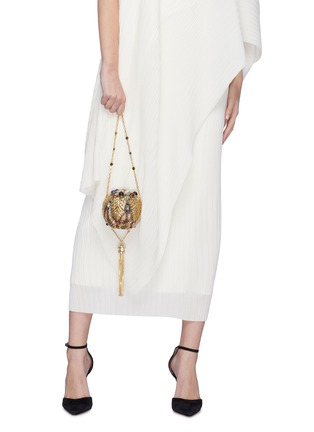 Figure View - Click To Enlarge - JUDITH LEIBER - 'Pax Sphere' crystal tassel clutch