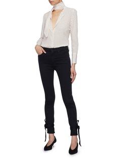MOTHER 'Looker' tie cuff skinny jeans