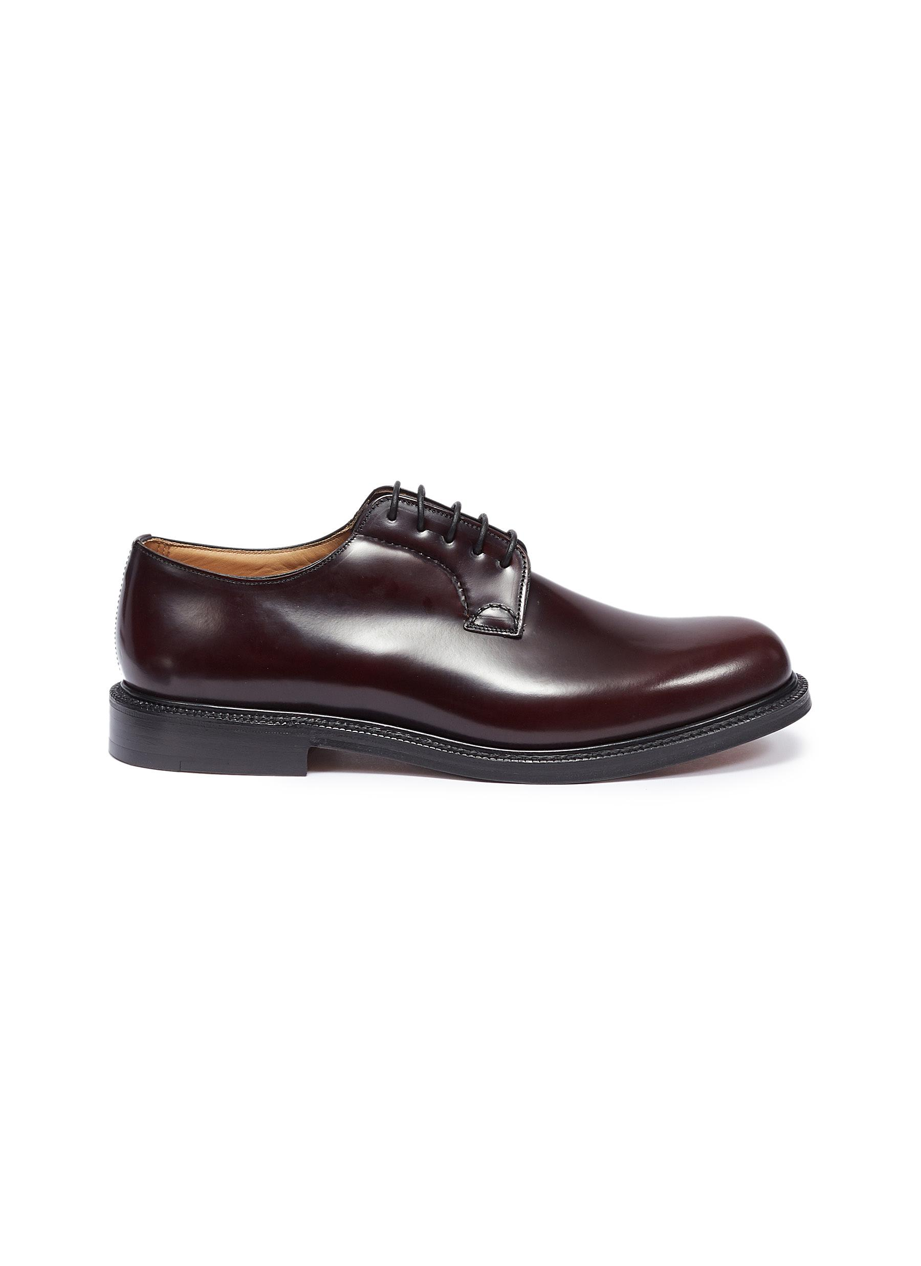 Church's 'Shannon' Leather Derbies In Burgundy